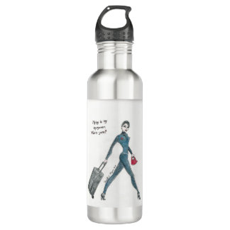 """""""Flying is my super power. What's yours?"""" bottle"""