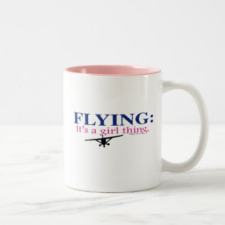 FLYING: IT'S A GIRL THING by Flying Diva Mary Ford Two-Tone Coffee Mug