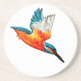 Flying Kingfisher Art Coaster