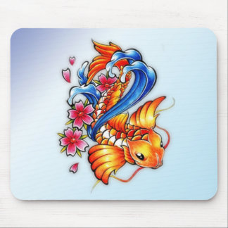 Flying Koi Fish Mouse Pad