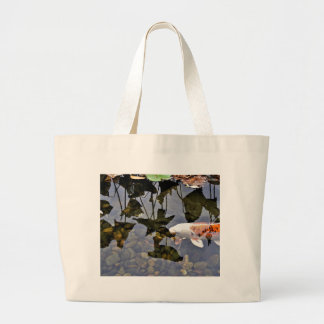 Flying Koi Large Tote Bag