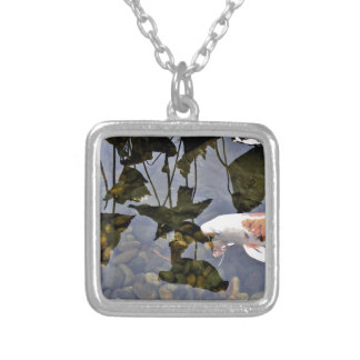 Flying Koi Silver Plated Necklace