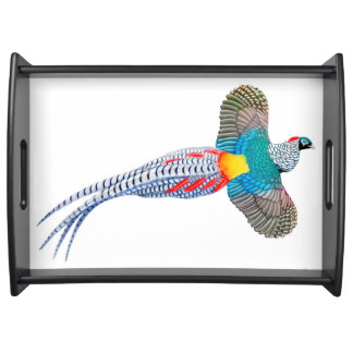 Flying Lady Amherst Pheasant Serving Tray
