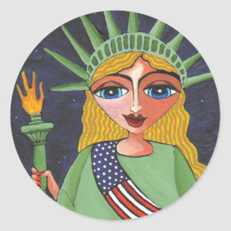 Flying Lady Liberty - sticker