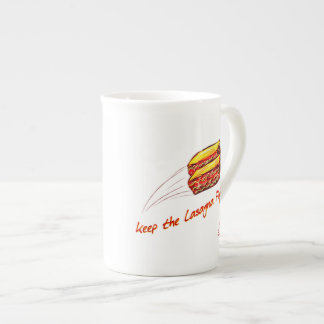 Flying Lasagna Bone China Mug