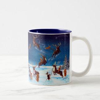 Flying Lessons Corgi and Reindeer Mug