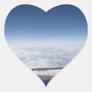 Flying Like A Bird Heart Sticker