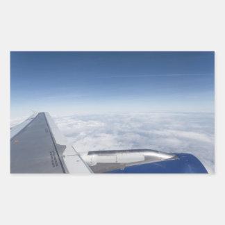 Flying Like A Bird Rectangular Sticker