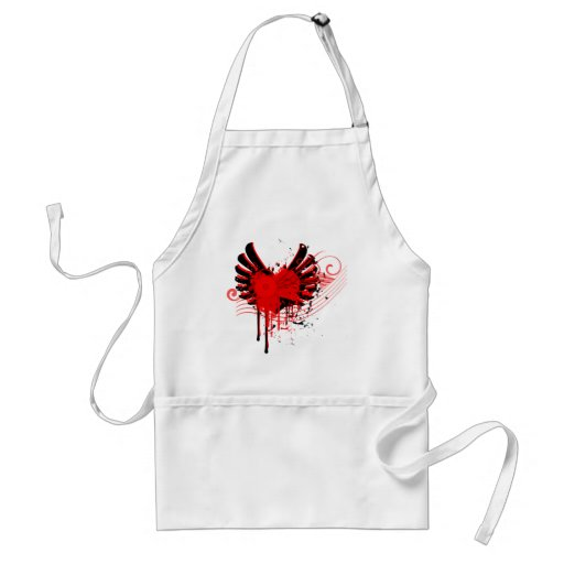 flying love abstract art apron smock