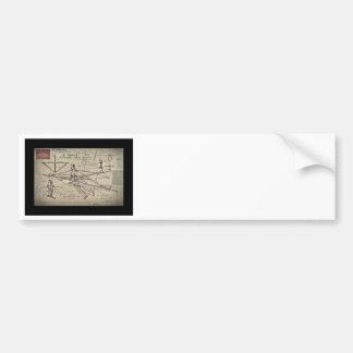 Flying Machine Glider Patent Bumper Sticker