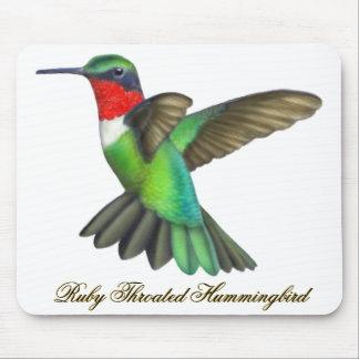 Flying Male Ruby Throated Hummingbird Mousepad