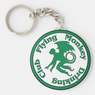 Flying Monkey Drinking Club Basic Round Button Key Ring