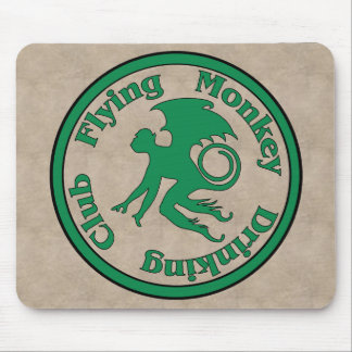 Flying Monkey Drinking Club Mouse Pad