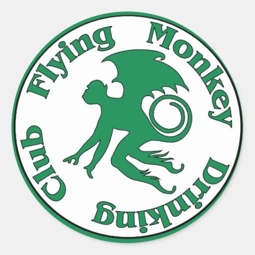 Flying Monkey Drinking Club Stickers