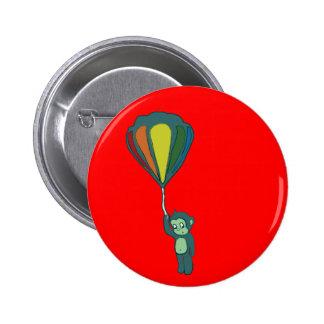 flying monkey hot air balloon button