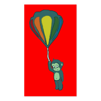 flying monkey : hot air balloon business card