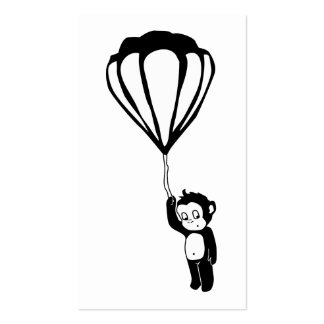 flying monkey : hot air balloon business cards