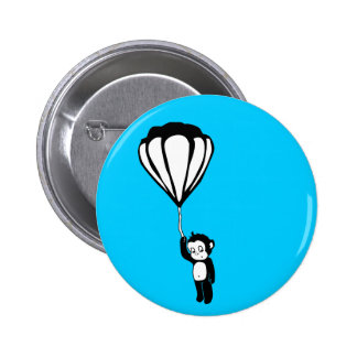 flying monkey hot air balloon button