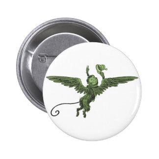 Flying Monkey, Wizard of Oz 6 Cm Round Badge