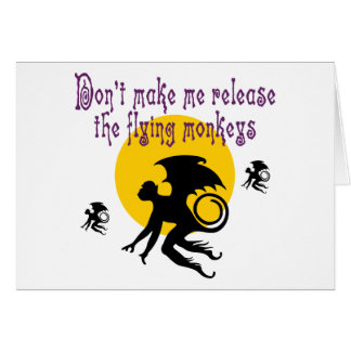 Flying Monkeys Note Card
