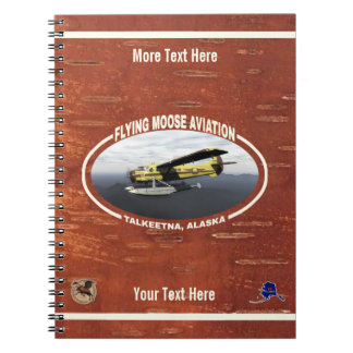 Flying Moose Aviation de Havilland DH3-C Otter Spiral Notebook
