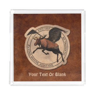 Flying Moose Aviation Patch Acrylic Tray