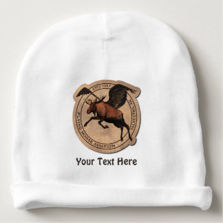 Flying Moose Aviation Patch Baby Beanie