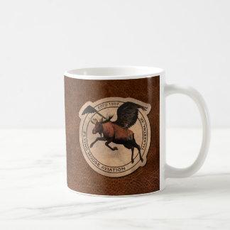 Flying Moose Aviation Patch Basic White Mug