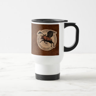 Flying Moose Aviation Patch Stainless Steel Travel Mug