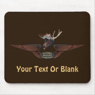 Flying Moose Bush Pilot Wings Mouse Pad