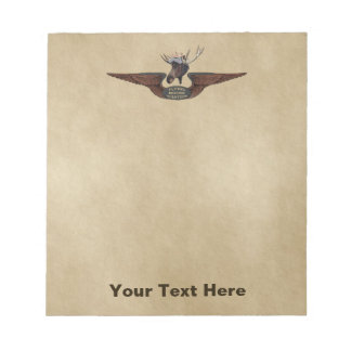 Flying Moose Bush Pilot Wings Notepad