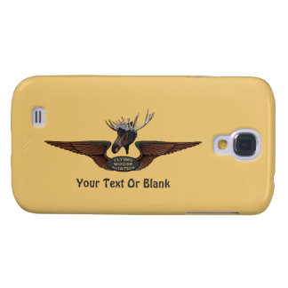 Flying Moose Bush Pilot Wings Samsung Galaxy S4 Covers