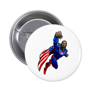 Flying Obama Button