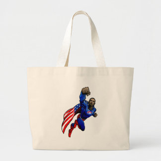 Flying Obama Jumbo Tote Bag