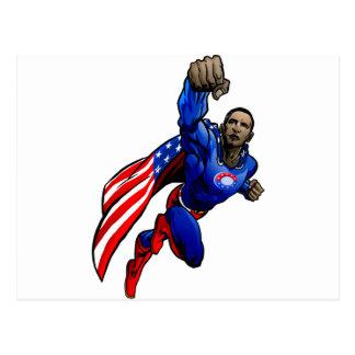 Flying Obama Postcard