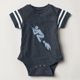 flying on the magic broom baby bodysuit