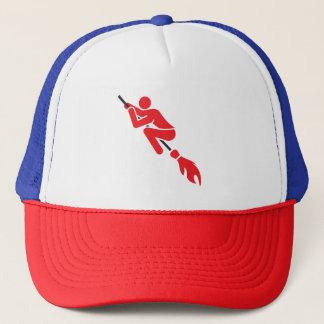 flying on the magic broom trucker hat