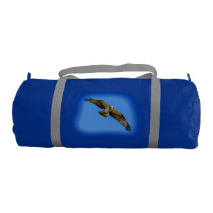 Flying osprey with a target in sight gym bag aac17586a1d26