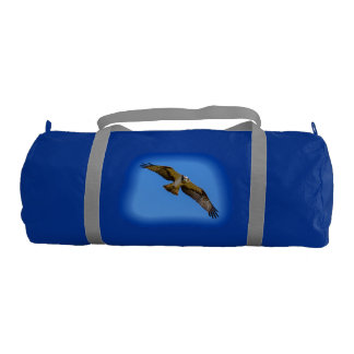 Flying osprey with a target in sight gym bag