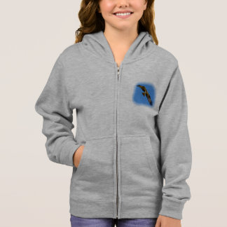 Flying osprey with a target in sight hoodie