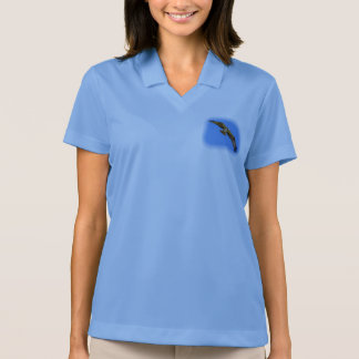 Flying osprey with a target in sight polo shirt