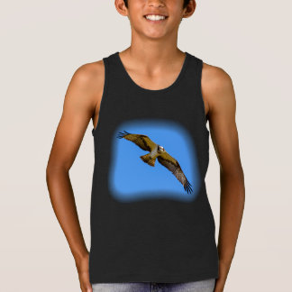 Flying osprey with a target in sight singlet