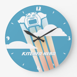 Flying oven angel kitchen hero kitchen clock