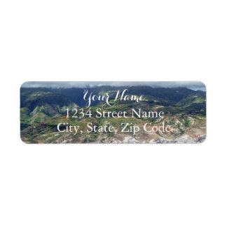 Flying over Hawaii Address Label