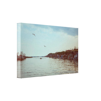 Flying over the lagoon canvas print