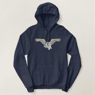 Flying Owl Embroidered Hoodies