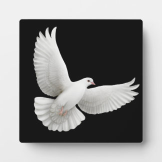 Flying Peace Dove Customisable Plaque