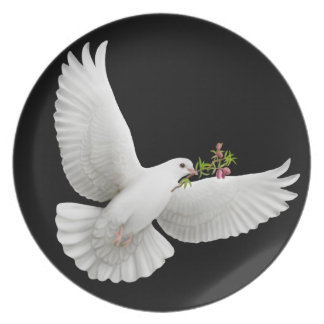Flying Peace Dove Plate