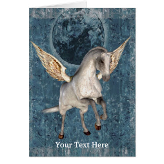 Flying Pegasus Fantasy Horse Art Photo Card