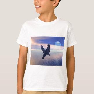 Flying Pegasus in Blue Sky T-Shirt